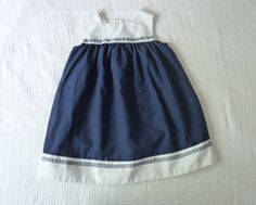 Vintage nautical girls dress 3T from LazerBaby Vintage, $11.00
