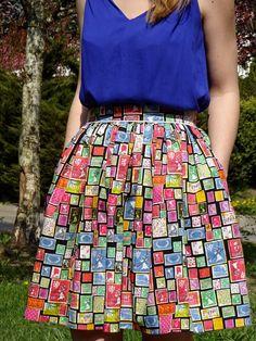 spódnica i bluzka; skirt DIY & blouse
