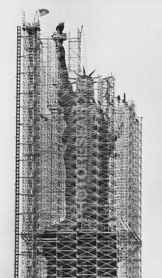Statue of Liberty Being Renovated, 1984  ©Jan Lukas / Photo Researchers, Inc.