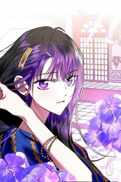 Read Hey from the story Marriage Life [Athy×Lucas] by with reads. Dark Anime Girl, Cool Anime Girl, Pretty Anime Girl, Beautiful Anime Girl, Anime Art Girl, Manga Girl, Anime Purple Hair, Dark Purple Hair, Purple Art