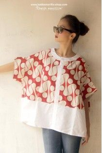 batik amarillis's breezy blouse 2