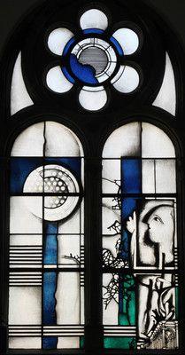 Joachim Klos, Abrahamfenster, 1974.  Fenster in der Kapelle.