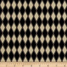 Barber Shop Black Diamond Black from @fabricdotcom  Designed by Bristol Bay Studios for Benartex, this manly barber-shop themed collection is perfect for quilting, apparel, and home decor accents. Colors include black, beige, and red accents.
