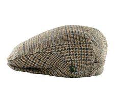 b19f41bf4b3 Mucros Mens Flat Irish Hat Brown Check Wool Made in Ireland Review Irish Hat