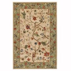 Home Decorators Collection Antoinette Wembley Beige/Sage 9 ft. 9 in. x 13 ft. 9 in. Area Rug-0006325620 at The Home Depot
