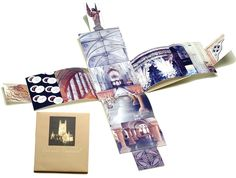 artist's book- constructed out of photos taken in Worchester Cathedral in England ~by Libby Barrett