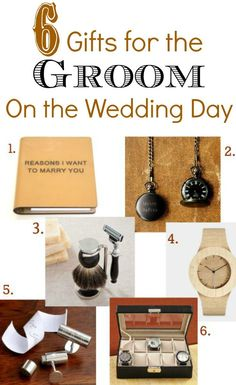 6 Perfect Gifts For The Bride To Give Groom On Their Wedding Day Http