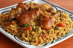 Chicken Machboos or Machboos ala Dajaj (spiced chicken and rice), is the national dish of Bahrain.