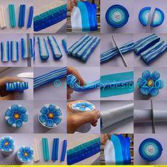 Fimo Lehrgänge: Eine Blaue Blume