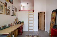 lit en mezzanine pour adulte et petit appartement
