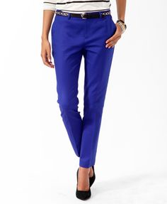 Essential Perma-Creased Ankle Pants | FOREVER 21 - 2017306659