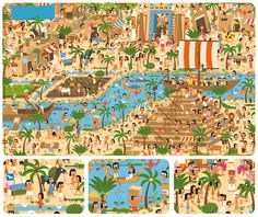 Zoekplaat Egypte Ancient Egypt Lessons, Ancient Egypt For Kids, Hidden Pictures, Language Development, World Cultures, Illustrations, Images, Artsy, Paper Crafts
