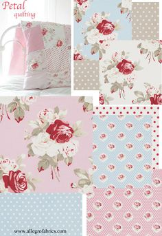 Petal by Tanya Whelan Fabric 055 Large Antique Roses Rose Floral Flowers on Ivory. $10.00, via Etsy.