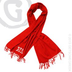 ALPHA GAMMA DELTA PASHMINA SCARF. PERFECT FOR THE CHILLY FALL AND WINTER WEATHER! CUSTOM GROUP ORDER!! AGD
