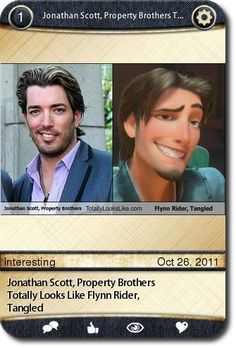 Jonathan Scott, Property Brothers Totally Looks Like Flynn Rider, Tangled   source: http://totallylookslike.icanhascheezburger.com/2011/10/18/jonathan-scott-prop... Go www.budgetblinds.com