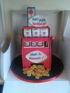 Vegas slot machine cake