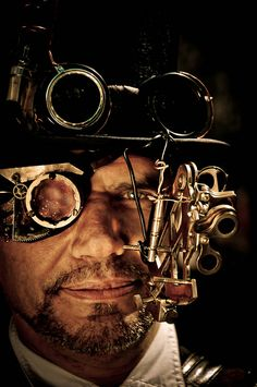 looks like it kinda hurts but wow! very extreme steampunk look
