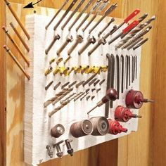 11 Cool Ways To Store Your Tools Safely - http://www.diyprojectsworld.com/11-cool-ways-to-store-your-tools-safely.html