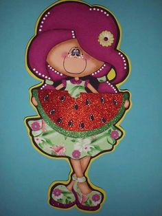 Manualidades en foamy Foam Crafts, Diy Crafts, Watermelon Festival, Watermelon Crafts, Paper Piecing, Scrapbook Paper, Paper Art, Clip Art, Christmas Ornaments
