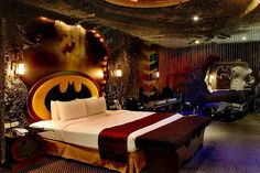 "Creepy Batcave Batman room. I came across this and it made me laugh in a ""this poor sad person"" way, but in a sadder way because my son would LOVE this room."