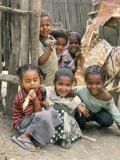 Village Children in Bati, Wello, Ethiopia. ( photo by Tony Waltham )