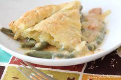 Cheesy Bacon Green Bean Casserole Pot Pie - Picky Palate