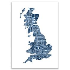 ACHICA | Lucy Loves This - British Gastronomy Map, Digital Print, 60 x 42 cm