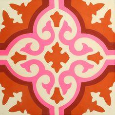 pink red orange talavera