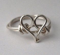 Valentines day Silver Heart Ring Valintine by DistortedEarth