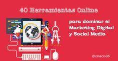 40 Herramientas Online de Social Media imprescindibles en tu día a día en el Marketing Digital con sus carecterísticas y funciones. Incluye infografía.....