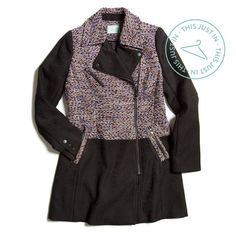 "stitchfix: ""This just in: A twist with tweed! Stay stylish and snug in this fun take on a traditional coat. (Shown: Clinton Textured Coat)"""