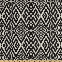 Maasai Mara Fair Isle Charcoal - Discount Designer Fabric - Fabric.com