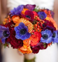 When it comes to your wedding bouquet, let the seasons be your guide. Fall is a fabulous time for flowers and we've rounded up the arrangements that best showcase autumn. Take a look at our 10 favorite fall wedding bouquets: Fall Wedding Bouquets, Fall Wedding Flowers, Purple Wedding, Diy Wedding, Wedding Colors, Dream Wedding, Budget Wedding, Wedding Ideas, Bridal Bouquets