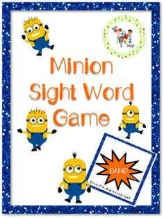 This Minion sight word game is a fun, engaging, and very relatable way to get students excited about sight words! In my placements, I've noticed students' fascination with these popular animated films. I know they would line up to play this game and practice their sight words.