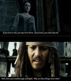 Even if I was harry in this scene I would still be confused (oh my pirates of the caribbean)