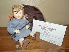 Vintage Hummel Goebel Danbury Mint Porcelain Umbrella Girl Figurine - SOLD
