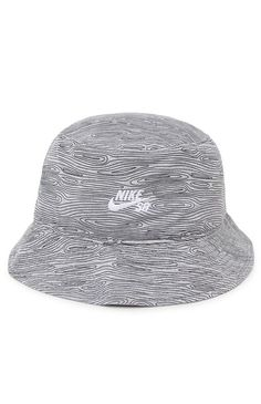 Nike SB Woodgrain Bucket Hat - Mens Backpack - Gray - Large