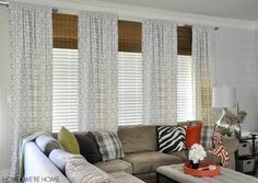 Honey We're Home: Roman Shades To Make Window Look Taller