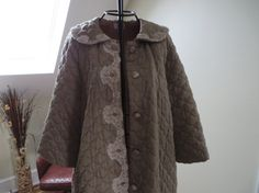 Sears Vintage Quilted Robe/House Coat on Etsy, $36.00
