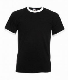 Fruit of the Loom Ringer T in black / white Size M (SS34) 100% cotton Belcoro yarn. Cotton/Lycra contrast ribbed collar and cuffs. Taped back neck. Twin needle stitched neck, sleeves and hem. WRAP Certified Production. S fits a (Barcode EAN = 5055332707122) http://www.comparestoreprices.co.uk/december-2016-5/fruit-of-the-loom-ringer-t-in-black--white-size-m-ss34-.asp