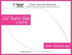 Template For A Party Hat  Fun Time For Tots    Crafts