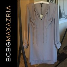 BCBGMaxAzria Dress I'm absolutely in love with this dress, bought it as an impulse buy, and NEVER ended up wearing it!! It's so gorgeous with heels or booties! 100% polyester. Don't be afraid to make an offer :) BCBGMaxAzria Dresses