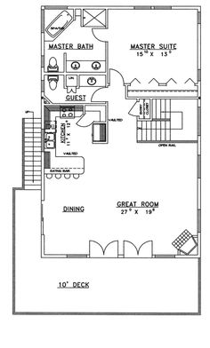 Brendel Cliffs A-Frame Home Plan 088D-0375 | House Plans and More