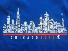 Hey, I found this really awesome Etsy listing at https://www.etsy.com/listing/398614737/chicago-cubs-baseball-team-skyline-t