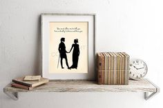 Pride and Prejudice Elizabeth Bennet and Mr. Darcy Silhouettes