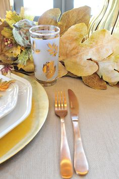 Golden Thanksgiving Tablescape - The Lily Sage