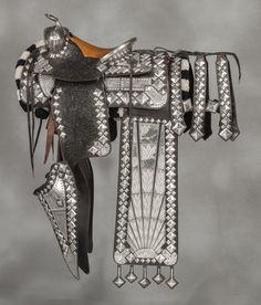 Holtz Saddle Company Sterling Silver Parade Saddle Ensemble. — Old West Events