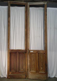 doors separations solid pin red 19th century brass handle door - Doors - Architecturals - Nord Antique