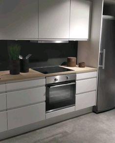 Kitchen Layout Plans, Kitchen Pantry Design, Kitchen Sets, Modern Kitchen Design, Living Room Kitchen, Home Decor Kitchen, Interior Design Kitchen, Kitchen Furniture, New Kitchen Inspiration
