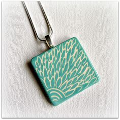 Sgraffito Earthenware Ceramic Pendant by grizzlymountainarts, via Flickr